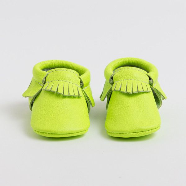 Neon Green - Limited Edition Moccasins from Freshly Picked #KidsFashion