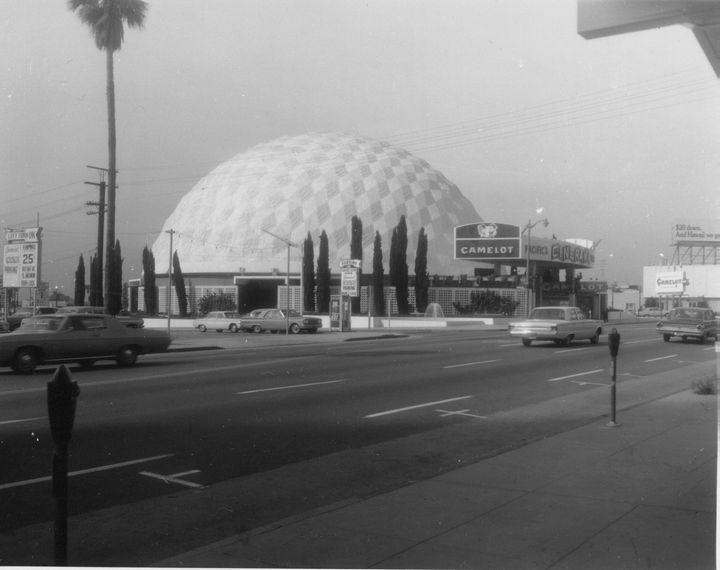 1967 Cinerama Dome Theater On Sunset Blvd. in Hollywood