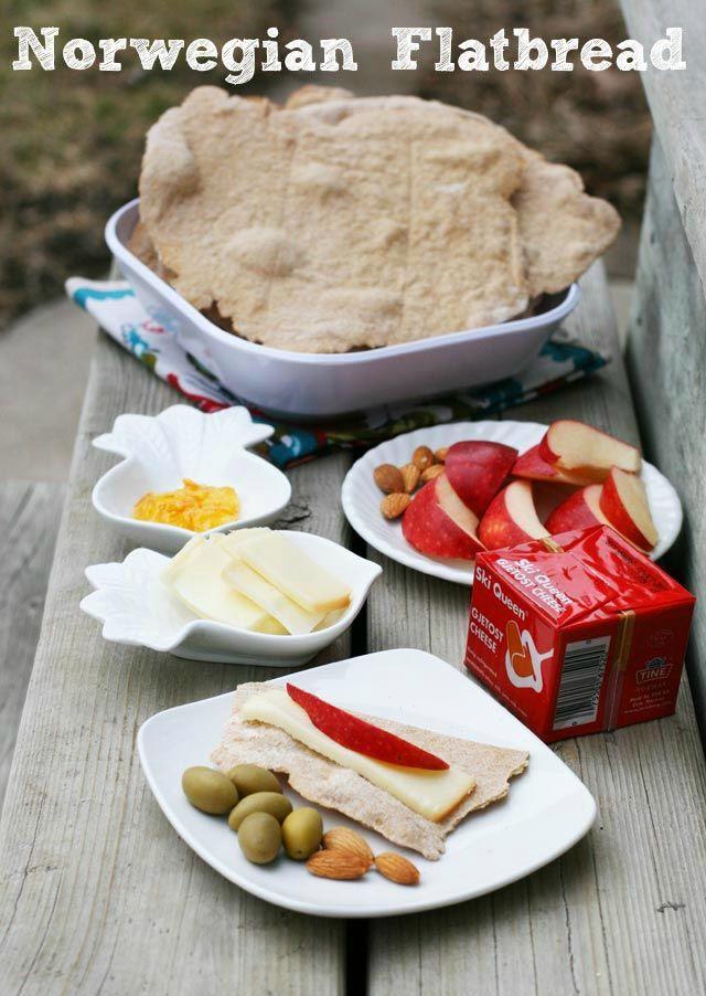 Norwegian flatbread (flatbrød) recipe. Taste like homemade crackers - so delicious! Repin to save.
