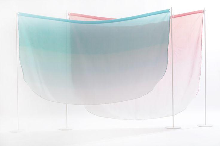 kristine five melvær: tinted silk room dividers