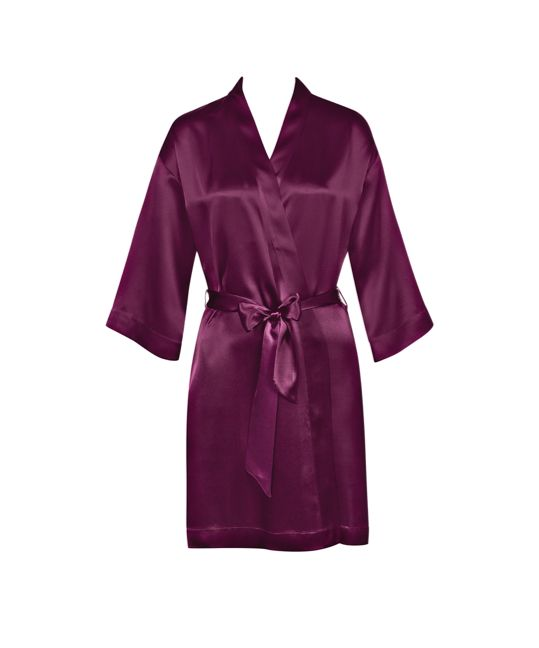 Luxuriously cosy... Photographed: Pure Silk Robe in Burgundy