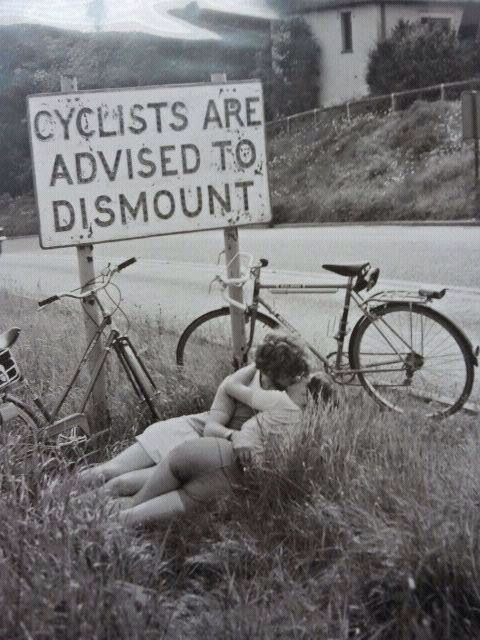 Cycling enthusiasts always obey the signs.....
