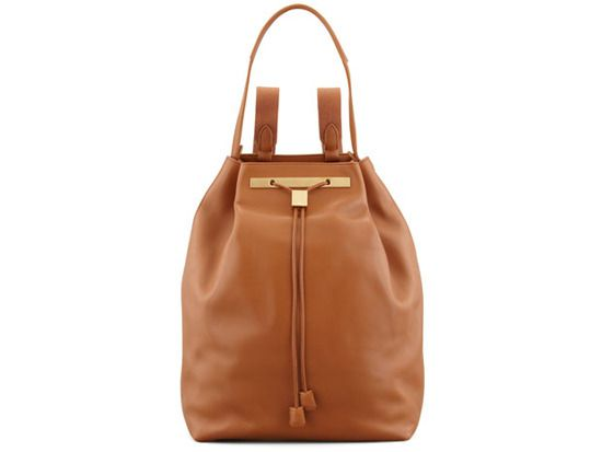 Hobo leather backpack in camel, The Row Neiman Marcus