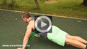 Упражнения с эспандером для мышц груди