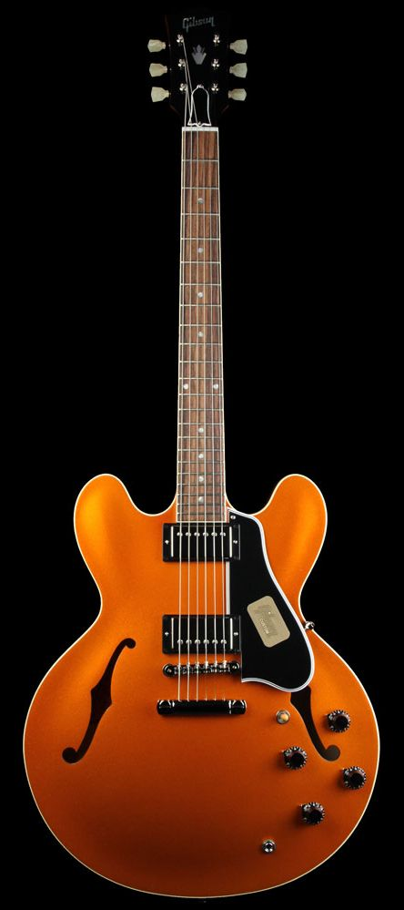 GIBSON Custom Shop Limited Edition '59 ES-335 Electric Guitar Orange Sparkle | The Music Zoo