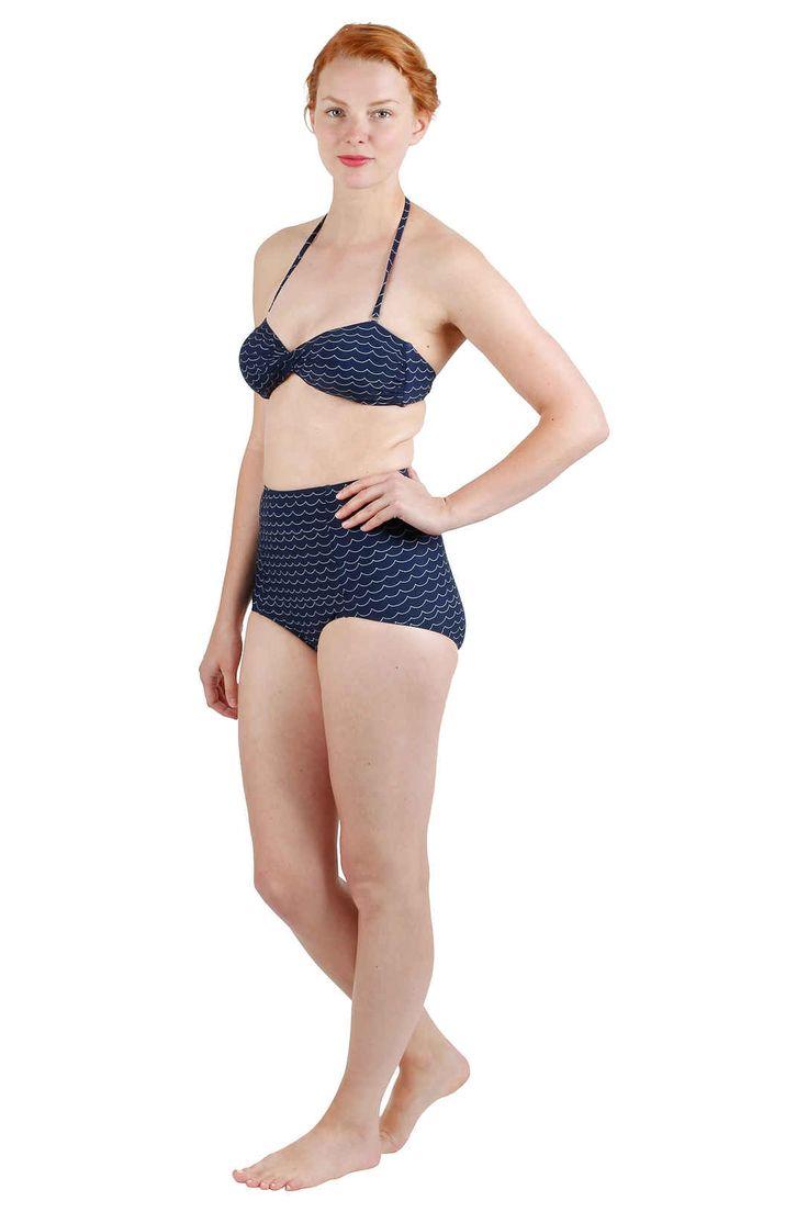 EM Gunnel Bikini Top Navy Wave