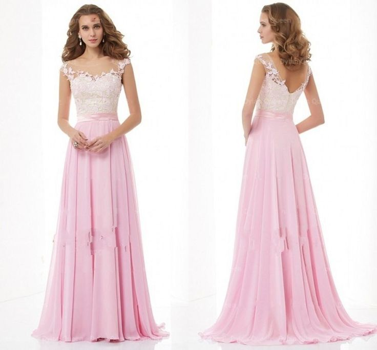 Traumhaft Rosa Spitze Abendkleider Ballkleider Damenmode Gr.36 38 40 42 44 Lang