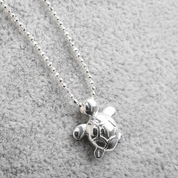 Cool! Original Sterling Silver Cute Glossy Small Turtle Pendant Necklace just $41.99 from ByGoods.com! I can't wait to get it!