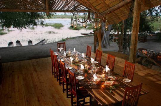 Dinner Table at Pom Pom Camp (OKavango Delta, Botswana)
