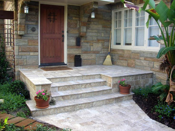 Front porch landing size google search exterior for Exterior entry stairs design