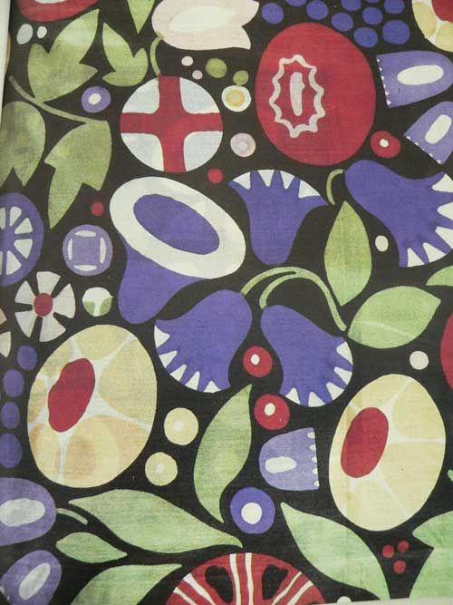 ' krieau' print by wilhelm jonasch [Wiener Werkstätte textile]
