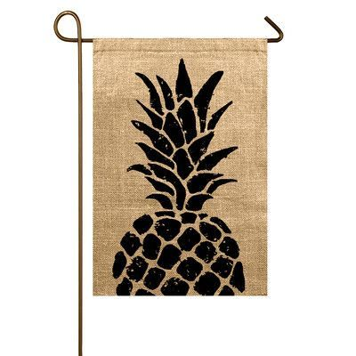 Features:  -Fabric material: Burlap.  -Hand crafted.  -Made in the USA.  Country of Manufacture: -United States.  Seasonal Theme: -Yes.  Season: -Summer.  Color: -Beige/Black.  --