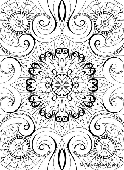 Coloring Book For Adults COLORS OF CALM By Egle Stripeikiene Publisher Almalittera Mandala PagesColouring