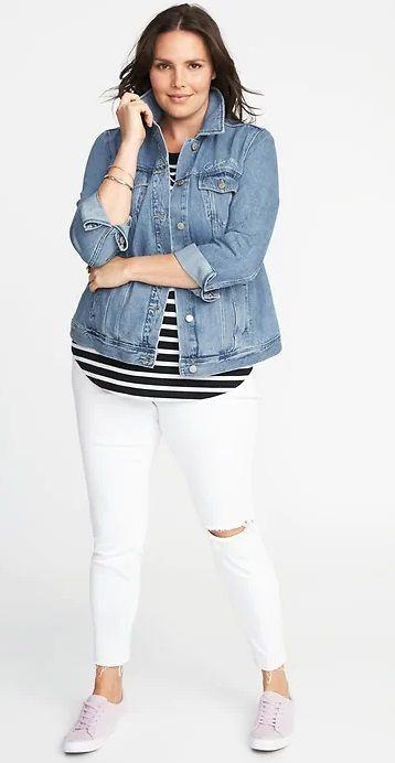 Plus Size Denim Jacket - Plus Size Fashion for Women #plussize 2