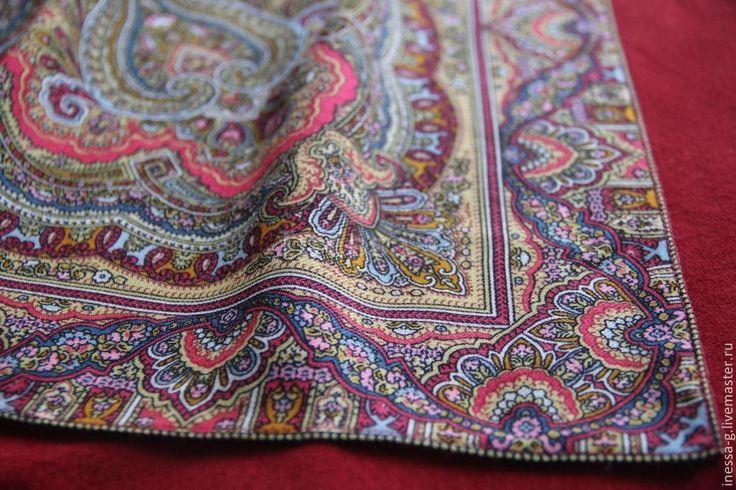 Купить Замшевая юбка в русском стиле - ярко-красный, орнамент, замшевая юбка, авторская работа