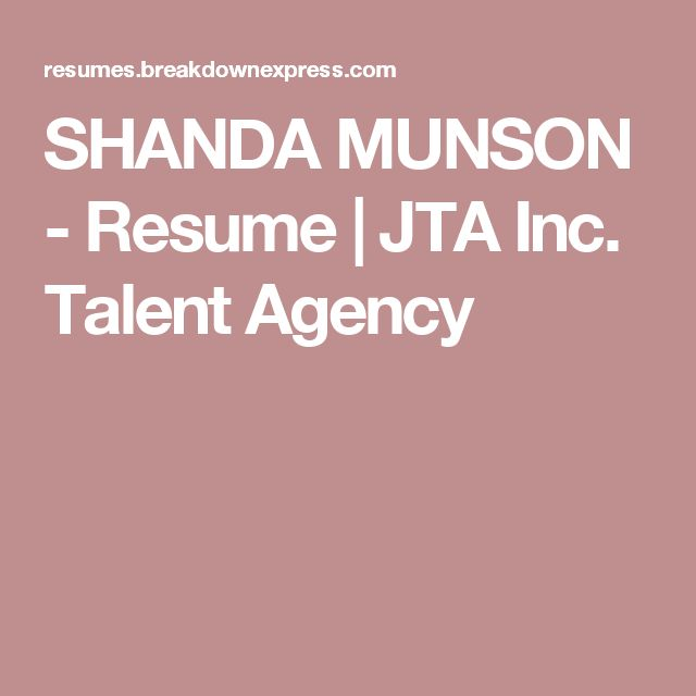 325 best Acting images on Pinterest Acting, Career and Management - talent agent resume