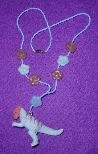RAWR! Flower Power Dinosaur Necklace