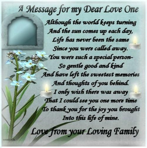 A message to my friend Alice. She was a big part of my family. Sadly missed each and every day.