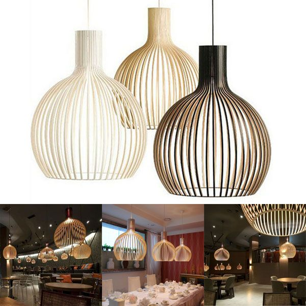 Simple Modern Iron Birdcage Pendant Light Bedroom Restaurant Lamp