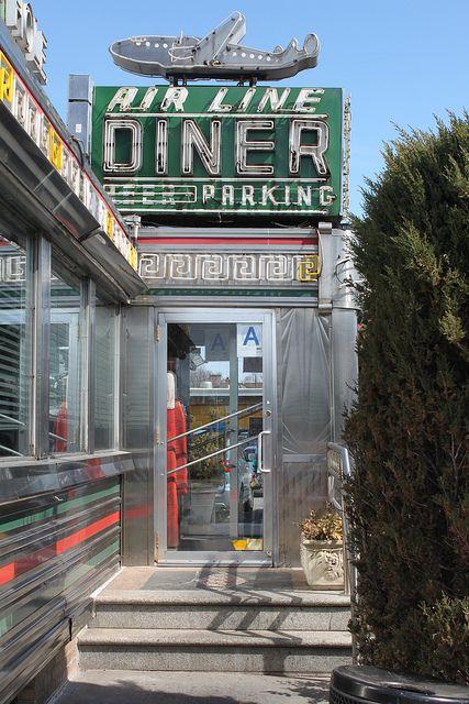 Air Line Diner is a landmark on Astoria Boulevard near LaGuardia Airport in Queens New York