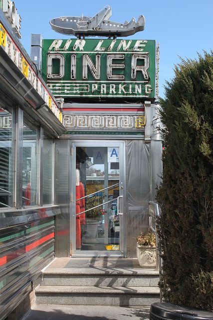 Air Line Diner is a landmark on Astoria Boulevard near LaGuardia Airport in Queens New York