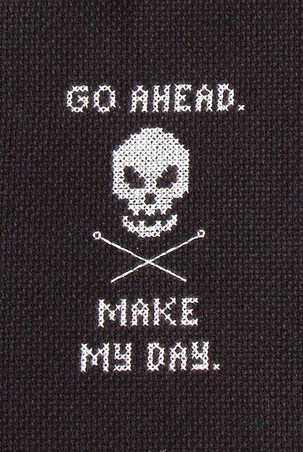 make my day cross stitch