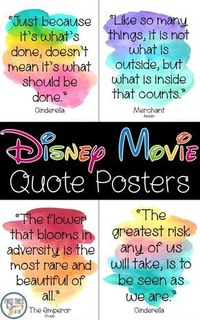 Walt Disney Film Quotes Posters – Inspirational Walt Disney Quotes From Motion pictures