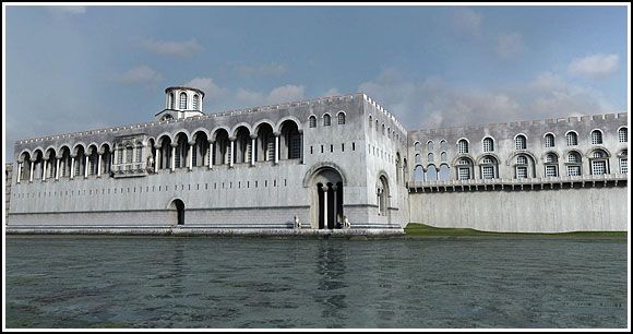 Boukoleon Palace - Konstantinopos (today Istanbul TUR) - reconstruction of byzantines palace from 9th century