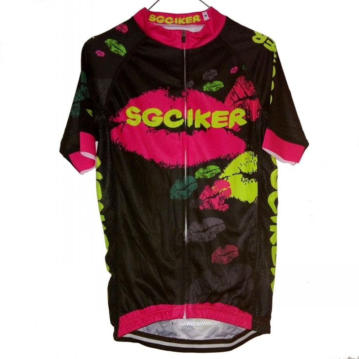 ==> [Free Shipping] Buy Best SGCIKER ale womens top quality pink cycling jerseys lovely Lips design pro team fit breathable bike blothing mtb Ropa Ciclismo Online with LOWEST Price | 32821960958