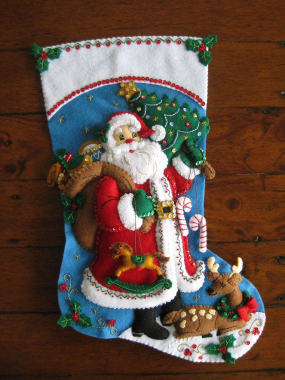 Bucilla Traditional Santa 18  Completed