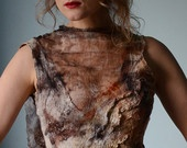 Eco nuno felted top - Into Sensuous OOAK. $299.00, via Etsy.