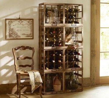 Modular Wine Storage eclectic wine racks
