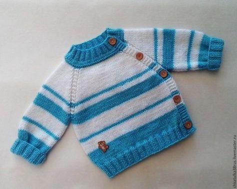 Одежда для мальчиков, ручной работы. Вязаный свитер для малыша