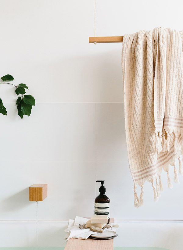 1000 Ideas About Wooden Towel Rail On Pinterest Door