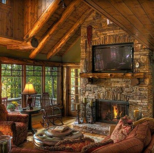 Log Cabin Interior Design: Pin By LTrex On Inside The Home