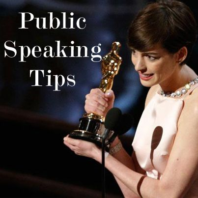 Public Speaking Tips.