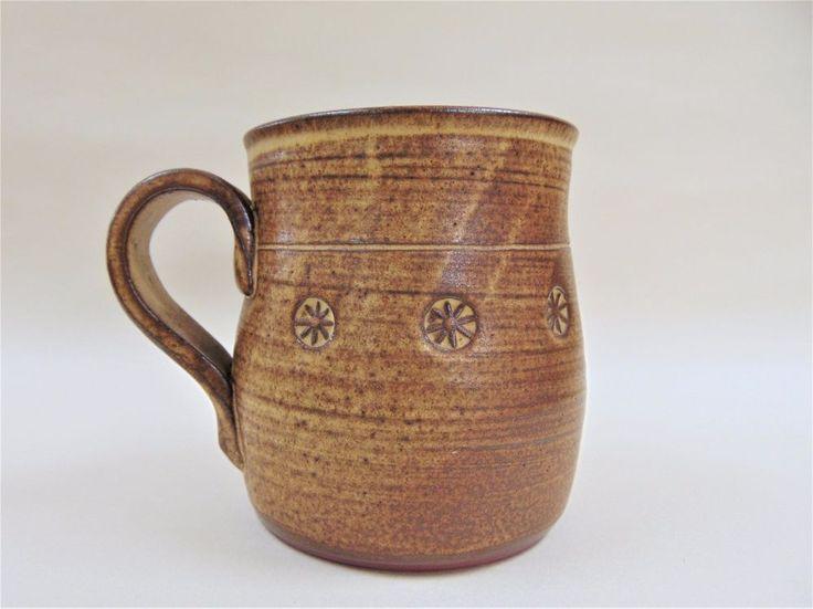 Large Coffee Mug Frank Wood Hendre Las Talsarn Vintage British Studio Pottery