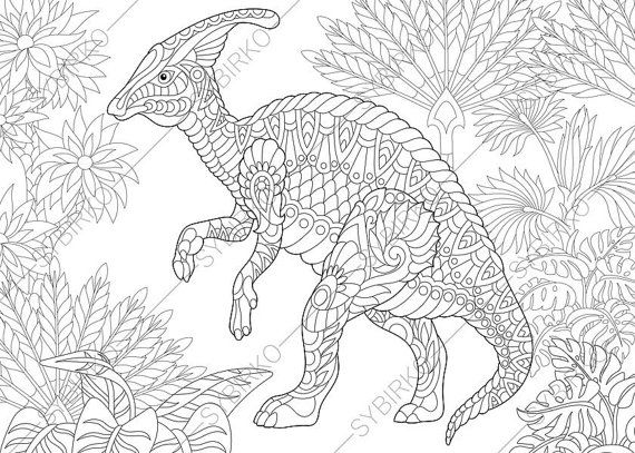 13 best Dinosaurs images on Pinterest | Coloring books, Mandalas and ...
