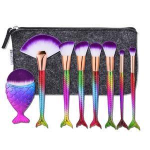 Fishtail makeup brushes
