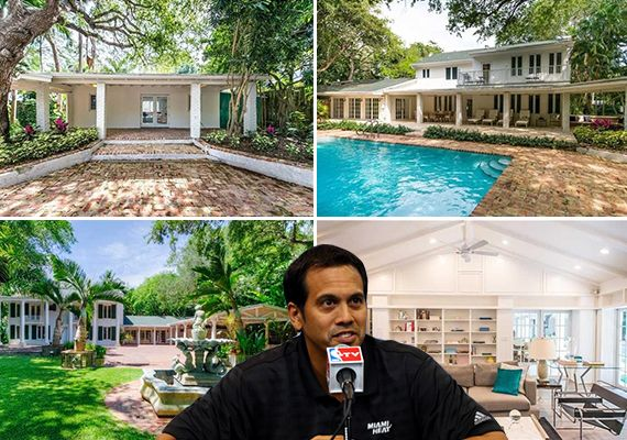 Miami Heat head coach Erik Spoelstra has flipped his Coconut Grove house at a slight loss, and upgraded to a house on the water.   In May, Spoelstra paid $2.6 million for the five-bedroom home at 3720 Poinciana Avenue. He listed it in January for $2.7 million, hoping to make a profit, but sold it