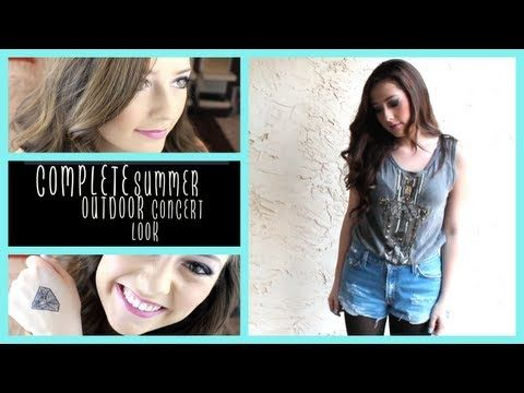 Outdoor Summer Concert || Makeup, Hair, & Outfit! - YouTube