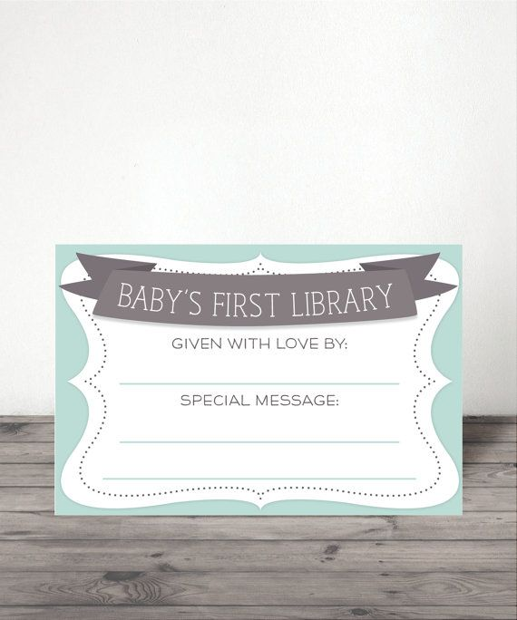 Instant Download  Baby Shower Book Plate  by CreativeUnionDesign
