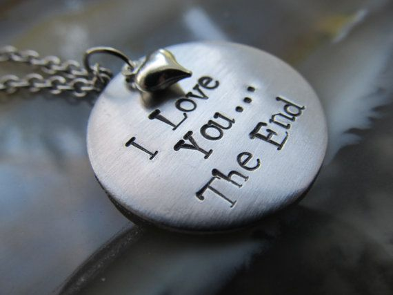 Handstamped Necklace Valentines Jewelry by XpressiveMpressions, $24.00