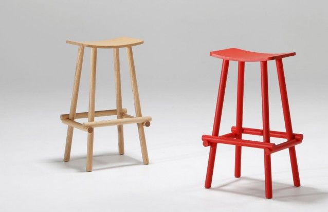 Lumber stool designed by Jamie McLellan for Fletcher Systems