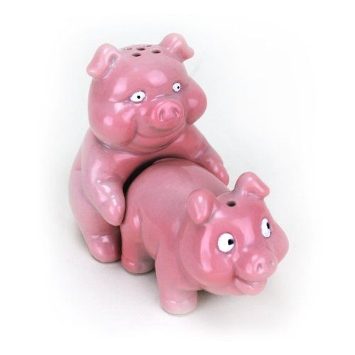 Big Mouth Toys Naughty Pigs Salt And Pepper Shaker Set By