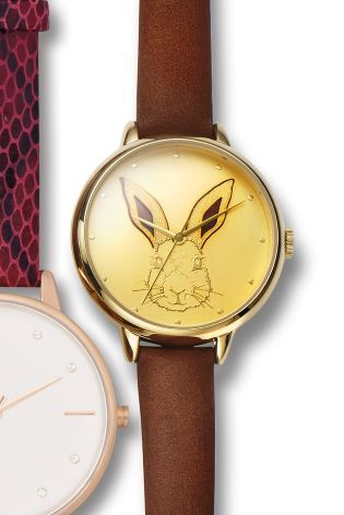 Buy Tan 3D Rabbit Face Watch from the Next UK online shop