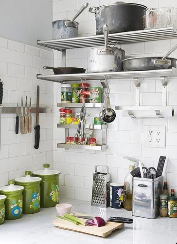 Great use of IKEA kitchen products to custom tailor the lovely tiled walls