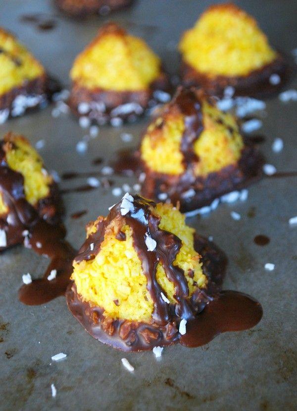 Hälsosamma kokostoppar med saffran