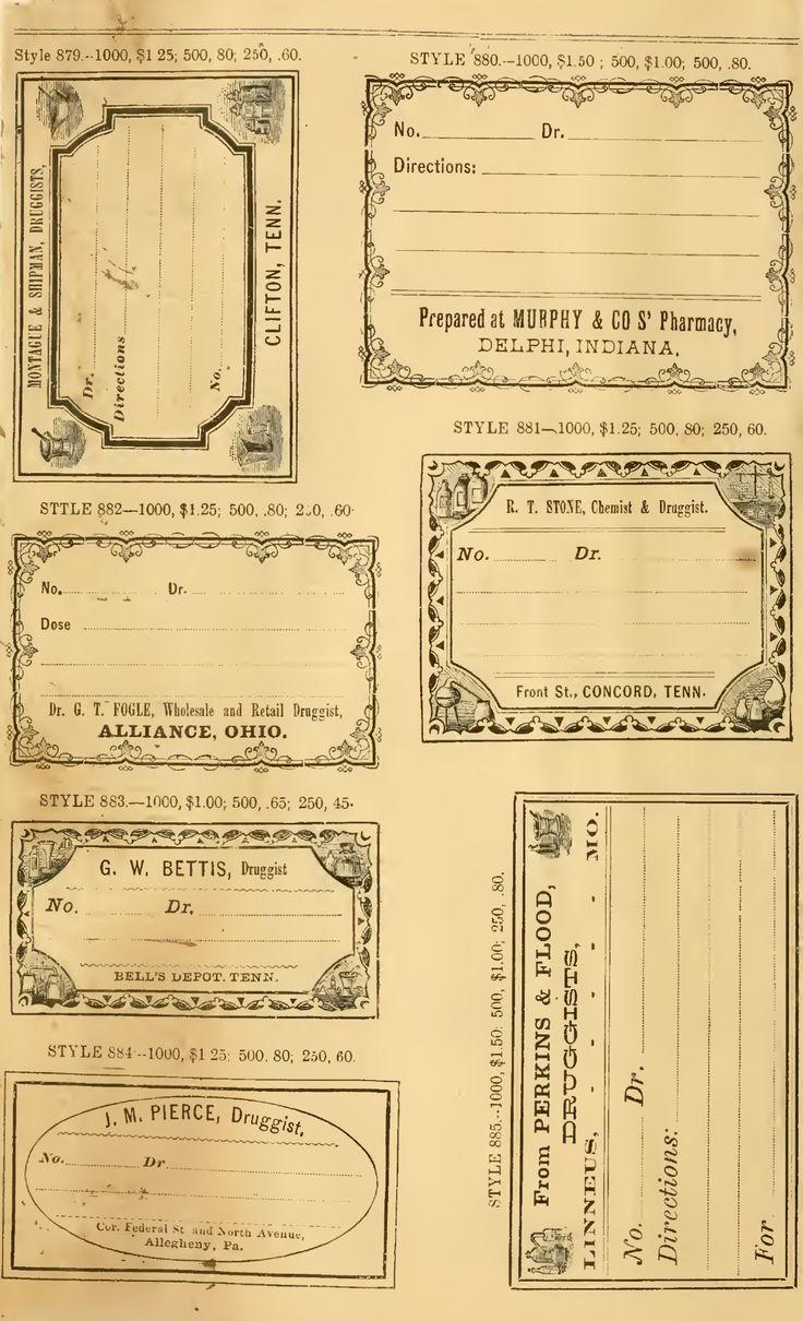 Vintage Pharmacy Label                                                                                                                                                      Más