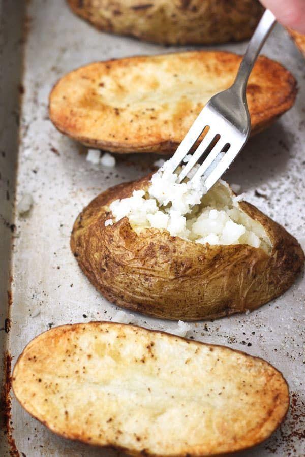 Quick Baked Potatoes Lebensmittel Essen Rezeptideen Schnelles Backen